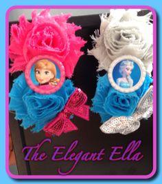 FROZEN Anna or Elsa double shabby headband or by TheElegantElla, $9.50