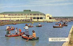 The Boating Lake at Butlins at Clacton-On-Sea Essex England Essex England, England Uk, Butlins Holidays, 1960s Britain, Little England, British Holidays, British Seaside, Cool Pools, Old Pictures