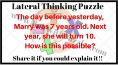 Out of Box Thinking Riddles for Teens with Answers-Brain Teasers Puzzles Riddles Hard Puzzles, Logic Puzzles, Puzzles For Kids, Picture Puzzles Brain Teasers, Brain Teaser Puzzles, Lateral Thinking Puzzles, Day Before Yesterday, Fun Brain, The Devil's Advocate