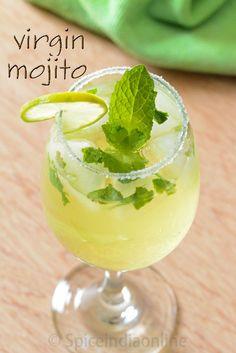 Virgin Mojito, Non Alcohol Summer drinks, Mint Mojito