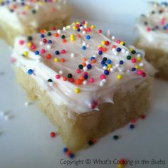 What's cooking in the burbs: Sugar Cookie Bars