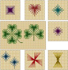 The Rhodes Stitch Paper Embroidery, Hardanger Embroidery, Hand Embroidery Stitches, Embroidery Techniques, Embroidery Applique, Cross Stitch Embroidery, Bargello Needlepoint, Needlepoint Stitches, Needlepoint Canvases