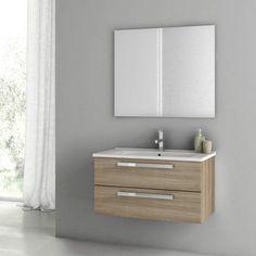 Have to have it. ACF by Nameeks ACF DA02-SO Dadila 33-in. Single Bathroom Vanity Set - Style Oak - $1694.88 @hayneedle