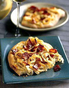 Onion and Bacon Tart Recipe | Epicurious.com