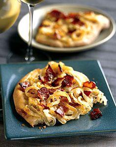 Onion and Bacon Tart Recipe | Epicurious.com
