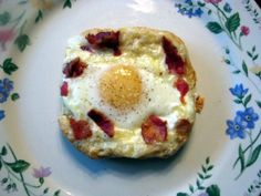 The Best Egg I Ever Ate!- Bacon, Egg, and Cheese Tart baked on puff pastry. Delicious, filling, and great for brunch or breakfast for dinner!