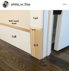 Trying to bring back Plinth Blocks! These are the thicker molding pieces at the bottom of door and opening trim casings. They give a nice… Interior Door Trim, Interior Detailing, Baseboard Trim, Baseboard Ideas, Farmhouse Trim, Plinth Blocks, Moldings And Trim, Moulding, Crown Molding