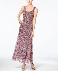 Nine West Sleeveless Printed Maxi Dress - Dresses - Women - Macy's
