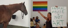 Live Horse Exhibit at NYC Art Gallery Triggers Animal Rights Backlash and Protests (Video)