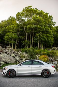 Design meets driving performance: the new Mercedes-AMG CLA 45. Photos by Trent Bona (www.trentbona.photoshelter.com). #MBphotopass [Combined fuel consumption 7.3–6.9 l/100km | combined CO2 emission 171–162 g/km | http://mb4.me/efficiency_statement]