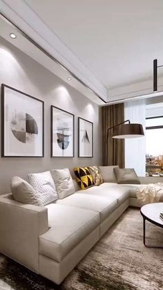 Narrow Living Room, Home Living Room, Living Room Designs, Living Room Decor, Living Room Lighting, Living Room Sets, All Modern Furniture, Luxury Furniture, Furniture Sets