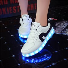 20182017 Fashion Sneakers Nipretty Womens Men High Top USB Charging 8 Colors LED Shoes Flashing Sneakers White Free Shipping