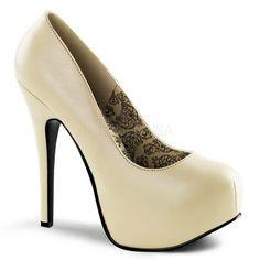 Elegante Pleaser Frauen High Heels Pumps Amuse 22 rot Lack mit 1cm Plateau 35 47