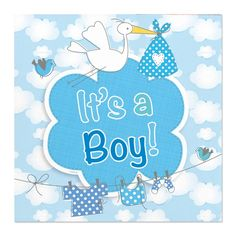 Servet It's a Boy! 20 stuks - Tuf-Tuf