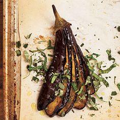 Roasted Eggplants with Herbs | MyRecipes.com