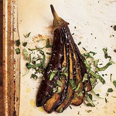 Roasted Eggplants with Herbs Recipe | MyRecipes.com Mobile