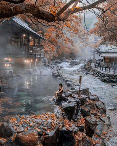 Discover Takaragawa Onsen Osenkaku - One of the most beautiful Hot Spring place in Japan! fotografia Discover Takaragawa Onsen Osenkaku - One of the most beautiful Hot Spring place in Japan! Gunma, Destination Voyage, Photos Voyages, Beautiful Places To Travel, Travel Aesthetic, Train Travel, Oh The Places You'll Go, Dream Vacations, Travel Destinations