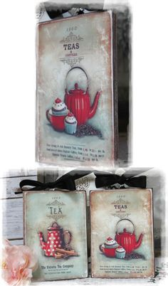 "~ ""Teas and Coffees"" ~ Vintage ~ Shabby~Country~Cottage style Wall Decor Sign ~ $16.29"