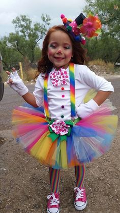 Little girls clown costume