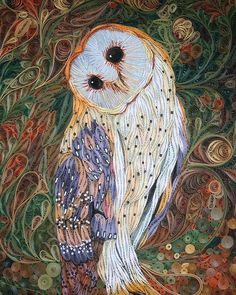 My Owl Barn: Detailed Paper Quilling Art by Vietnamese artist Ho Bao Tran Arte Quilling, Quilling Work, Origami And Quilling, Quilling Paper Craft, Paper Crafting, Paper Quilling Tutorial, Paper Quilling Patterns, Quilling Ideas, Quiling Paper Art