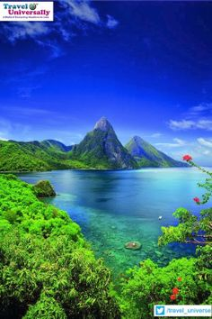 Beauty of Nature :   A place where You'd find Greenery , Beach and beautiful weather. It's Saint Lucia   Saint Lucia is a British Commonwealth country that is an island in the Caribbean, off the coast of Central America. It lies between the Caribbean Sea and North Atlantic Ocean, north of Trinidad and Tobago.  For more travel Updates/Offers and Interesting Stuffs be connected to  Travel Universally