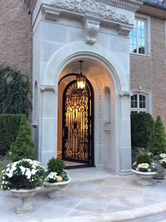 The Enchanted Home - Rediscover Your Home Classic Architecture, Architecture Design, Door Design, Exterior Design, Enchanted Home, Foyer Decorating, House Entrance, Classic House, House Goals