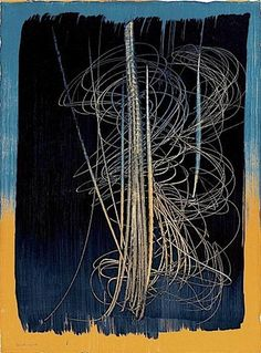 HANS HARTUNG http://www.widewalls.ch/artist/hans-hartung/ #abstract #tachisme