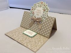The Craft Spa - Stampin' Up! UK independent demonstrator : Circle of Spring Simple Square Easel Card