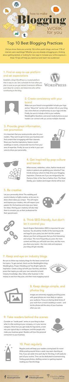 10 Best Blogging Practices [INFOGRAPHIC] - Digital Information World   #TheMarketingAutomationAlert