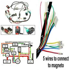 Advertisement Ebay Atv Electric Start Quad Wiring Harness Cdi Stator Ignition 50 70 90 110 125cc Motorcycle Wiring Atv Quads Motorcycle Parts And Accessories