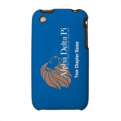 Alpha Delta Pi Gold Lion with Blue Background iPhone 3 Case