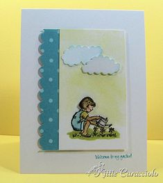 Stampin' Up! Friendships Grow-Welcome to my garden! card by Kittie Caracciolo