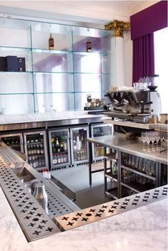 www.stainlesssteeltile.com likes the look- Bar design/ commercial kitchen equipment - Blythswood Square
