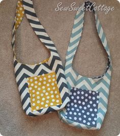 Chevron tote bags, Anna Tote Bag--Sew Sweet Cottage