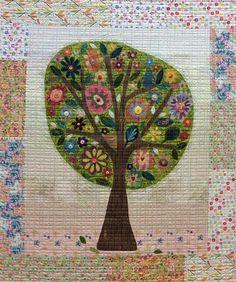 29W X 53L Tree Quilt Pattern by Laura Heine for Fiberworks