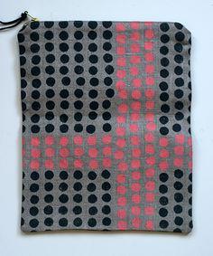 52 Weeks of Printmaking: Week 41 by Jen Hewett. Two-color screenprint on linen.