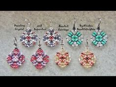 Dazzling Crystal and Superduo Beaded Earrings Tutorial - YouTube
