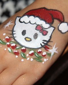 christmas face painting - Google Search Face Painting Designs, Paint Designs, Body Painting, Christmas Face Painting, Christmas Paintings, Cheek Art, Making Faces, Hand Art, Fantasy Makeup