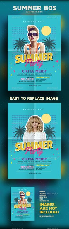 Summer 80s Party  PSD Template • Download ➝ https://graphicriver.net/item/summer-80s-party/17090579?ref=pxcr