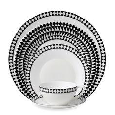 Wedgwood® Jasper Conran Mosaic Black Dinnerware - Bed Bath & Beyond