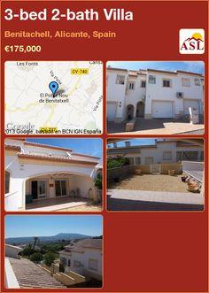 3-bed 2-bath Villa in Benitachell, Alicante, Spain ►€175,000 #PropertyForSaleInSpain