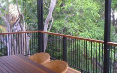 The QLD Deck Portfolio – timber decks, patio roofing, solarspan panels & more - All About Balcony Veranda Railing, Garden Railings, Balcony Railing, Patio Roof, Deck Balustrade Ideas, Deck Railing Design, Deck Design, Timber Garage, Timber Stair