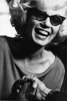 Marilyn Monroe at a party at the home of her friend, poet Carl Sandburg. Photo by Len Steckler, December 1961.