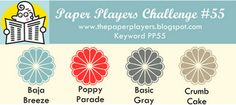 baja breeze, poppy parade, basic gray, crumb cake