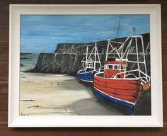 Spiddal Boats, Conamara Irish Art, Boats, Tapestry, Painting, Home Decor, Tapestries, Boating, Room Decor, Painting Art