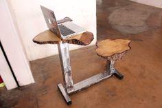 Postazione PC scrivania studio in quercia e ferro di Spulvraz, €189.00