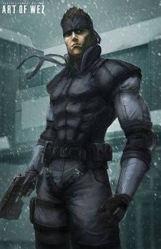 The Legendary Solid Snake Created by Derek Weselake___©__!!!! / Find this artist on Deviant Art & Facebook / More Arts from this artist on my Tumblr HERE