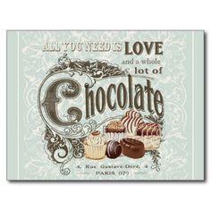 modern vintage french chocolates