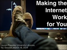 Making The Internet Work For You / Lauren Pressley | #readyfortransliteracy