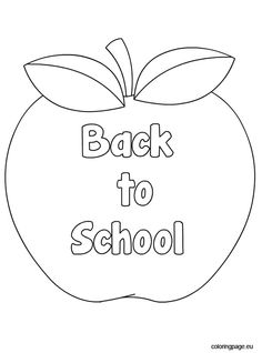 back to school apple coloring page